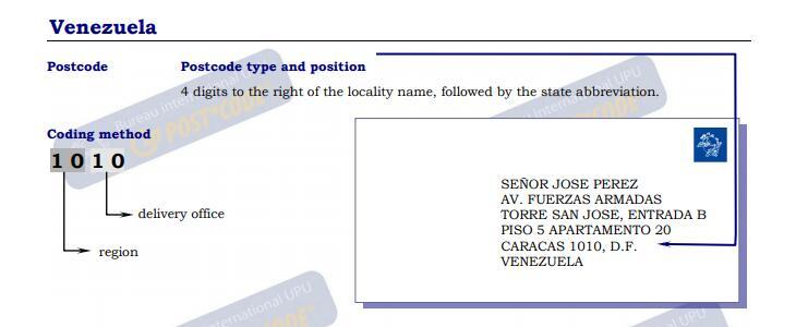 英文地址怎么写_委内瑞拉 邮政编码查询 - 邮编库 ️